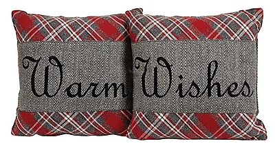 August Grove Chamblee 2 Piece Warm Wishes Throw Pillow Set