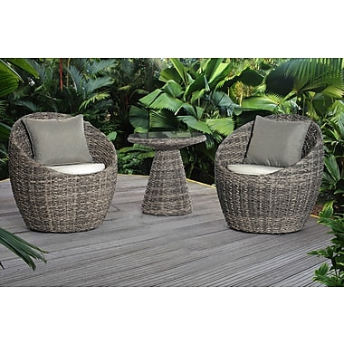 Bay Isle Home Carsten 3 Piece Deep Seating Group w/ Cushion