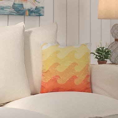 Bay Isle Home Deep Sea Geometric Outdoor Throw Pillow; Yellow