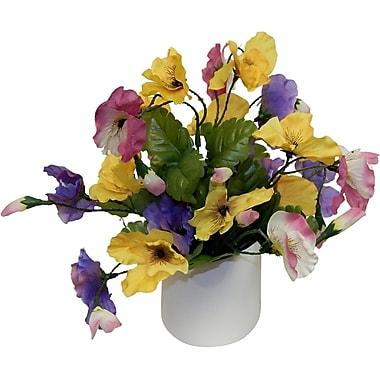Bay Isle Home Faux Sweet Little Pansy Floral Arrangement