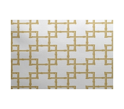 Bay Isle Home Connelly Gold Indoor/Outdoor Area Rug; 2' x 3'