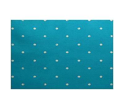 Bay Isle Home Golden Beach Turquoise Indoor/Outdoor Area Rug; 2' x 3'