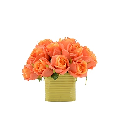 August Grove Florrie Orange Rose Bouquet