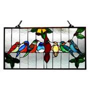 August Grove Gathering Birds Window Panel