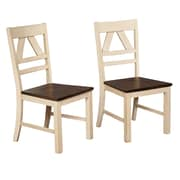 August Grove Fred Solid Wood Dining Chair (Set of 2)