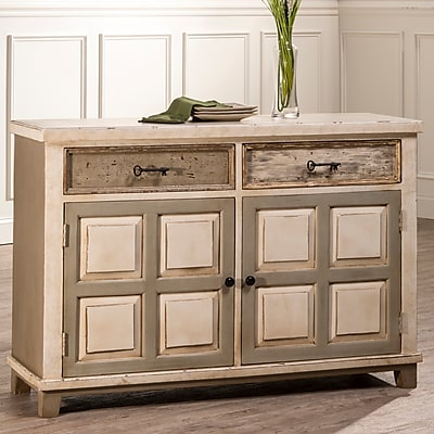 August Grove Zettie 2 Drawer 2 Door Accent Cabinet