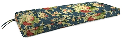 August Grove Indoor Bench Cushion; Sanctuary Rose Heritage