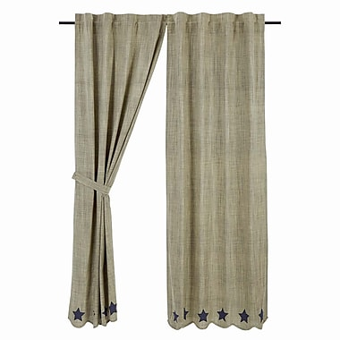 August Grove Victoria Curtain Panels (Set of 2); 40'' W x 84'' L