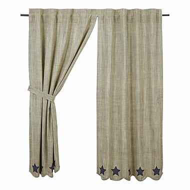 August Grove Victoria Curtain Panels (Set of 2); 36'' W x 63'' L