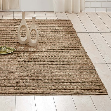 August Grove Milton Hand-Woven Natural Area Rug; 5' x 8'