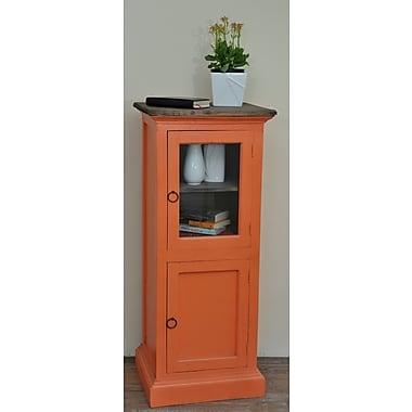 August Grove Julianne Glass 1 Door Accent Cabinet