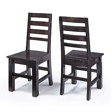 August Grove Joliet Solid Wood Dining Chair (Set of 2)