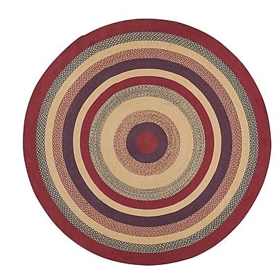 August Grove Pheobe Red/Brown Area Rug; Round 8'