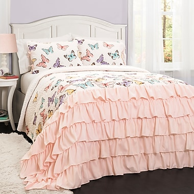August Grove Therrien Quilt Set; Twin