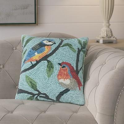 August Grove Ismay Birds on Branches Indoor/Outdoor Throw Pillow