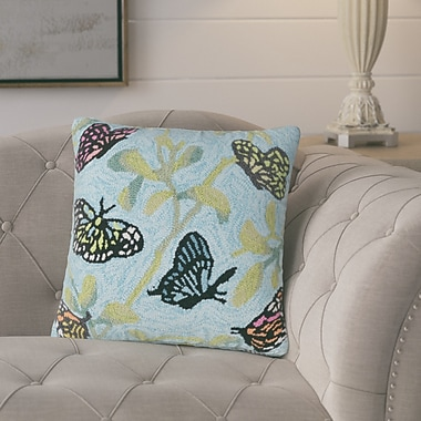August Grove Ismay Butterfiles on Tree Indoor/Outdoor Throw Pillow