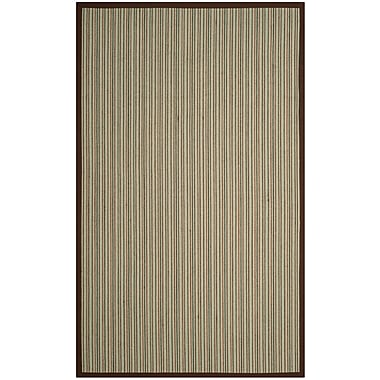 Bay Isle Home Penrock Fiber Teal/Brown Area Rug; Rectangle 3' x 5'