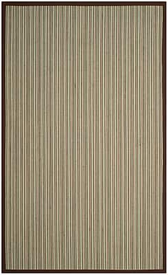 Bay Isle Home Penrock Fiber Teal/Brown Area Rug; Square 6'