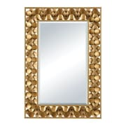 Bay Isle Home Antique Gold Metal Accent Wall Mirror