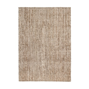 Bay Isle Home Campbell Hand-Woven Tan/Ivory Area Rug; 8' x 10'