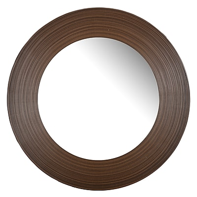 Bay Isle Home Brown Glass Accent Wall Mirror