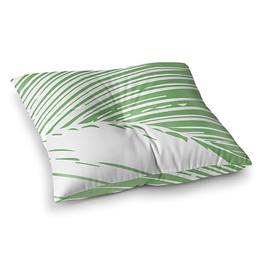 Bayou Breeze Kanisha Palm Leaves Outdoor Floor Pillow; 23'' H x 23'' W x 4'' D