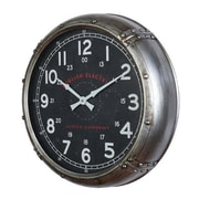 Breakwater Bay 20'' Round Riveted Frame Wall Clock