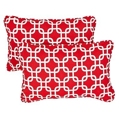 Brayden Studio Replogle Link Indoor/ Outdoor Corded Pillow (Set of 2)