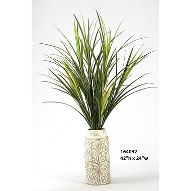 Bay Isle Home Tall Mango Grass Floor Plant in Planter