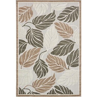 Bay Isle Home Brimfield Beige Indoor/Outdoor Area Rug; 6' x 9'