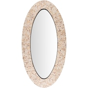Bay Isle Home Axis Oval Brown Wall Mirror