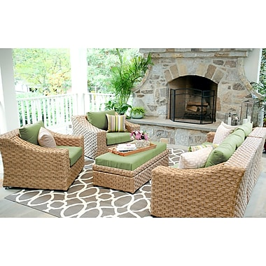 Bay Isle Home St. Johns 6 Pieces Deep Seating Group w/ Cushion; Spectrum Cilantro