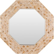 Bay Isle Home Seagrove Coastal Brown Mirror