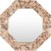 Bay Isle Home Seagrove Mosiac Inlay Brown Wall Mirror