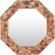 Bay Isle Home Seagrove Hexagon Brown Mirror