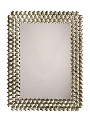 Bay Isle Home Rectangle Champagne Mirror