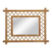 Bay Isle Home Bamboo Latticework Wall Mirror