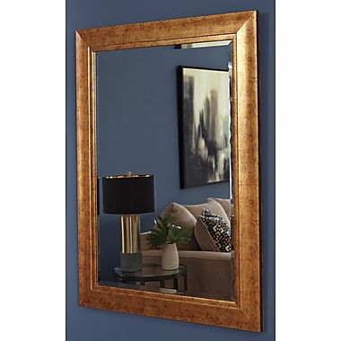 Bay Isle Home Antiqued Goldtone Wall Mirror