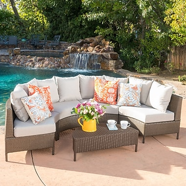 Bay Isle Home Norland 5 Piece Sectional Seating Group w/ Cushion