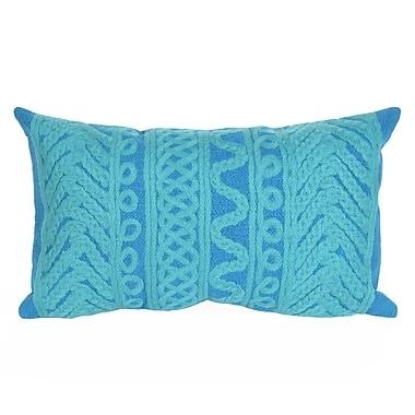 Bay Isle Home Deryneia Grove Indoor/Outdoor Lumbar Pillow; Blue