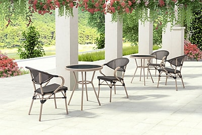 Bay Isle Home Gainesville Stacking Patio Dining Chair (Set of 2)