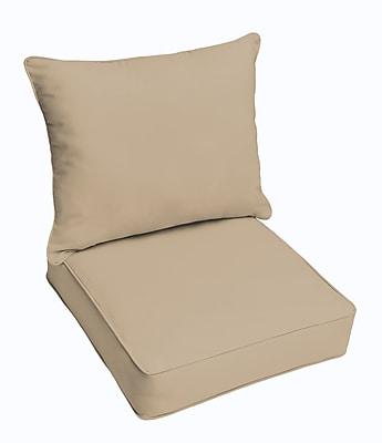 Bay Isle Home Hanson Outdoor Sunbrella Dining Chair Cushion; Antique Beige