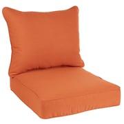 Bay Isle Home Hanson Outdoor Sunbrella Dining Chair Cushion; Rust