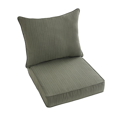 Bay Isle Home Hanson Outdoor Sunbrella Dining Chair Cushion; Green