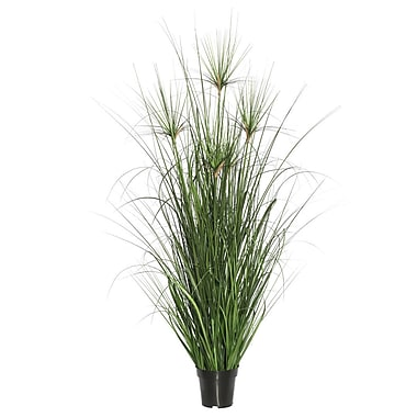 Bay Isle Home Artificial Straight Foliage Grass in Pot