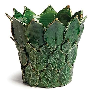 Bay Isle Home Leaf Green Ceramic Table Vase