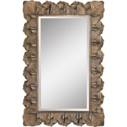 Bay Isle Home Gold Metal Leaf Accent Wall Mirror