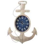 Breakwater Bay Anchor Ivory Iron Wall Clock