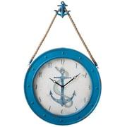 Breakwater Bay 24'' Anchor Blue Wall Clock