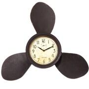 Breakwater Bay Propeller Brown Metal Wall Clock